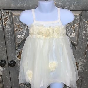 Haute baby rosette lined tank top size 12m
